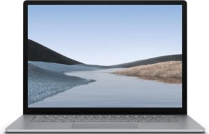 Microsoft Surface Laptop 3 Notebook Platina 38,1 cm (15'') 2496 x 1664 Pixels Touchscreen Intel® 10de generatie Core™ i5 8 GB LPDDR4x-SDRAM 128 GB SSD Wi-Fi 6 (802.11ax) Windows 10 Pro