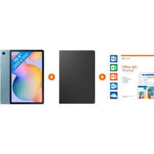 Starterspakket - Galaxy Tab S6 Lite 64 GB Wifi + 4G Blauw