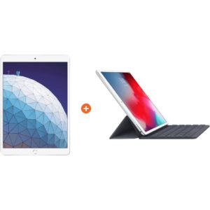Apple iPad Air (2019) 64 GB Wifi Zilver + Smart Keyboard