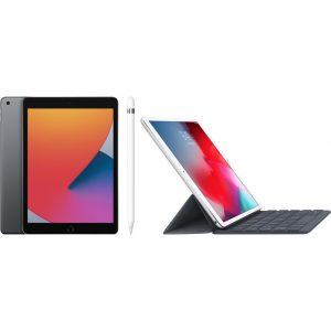 Apple iPad (2020) 128 GB Wifi Space Gray + Smart Keyboard + Apple Pencil