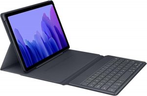 Book Cover Keyboard Samsung Galaxy Tab A7 tablethoes - Grijs