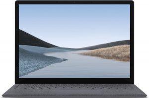 Microsoft Surface Laptop 3 Notebook Platina 34,3 cm (13.5'') 2256 x 1504 Pixels Touchscreen Intel® 10de generatie Core™ i5 8 GB LPDDR4x-SDRAM 256 GB SSD Wi-Fi 6 (802.11ax) Windows 10 Pro