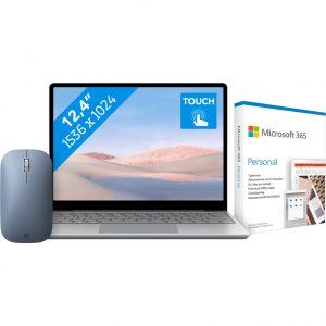 Microsoft Surface Laptop Go - i5 - 8GB - 256GB + Draadloze Surface Muis + Microsoft 365