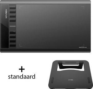 XP-pen Star03 V2 met Stand - Tekentablet - Grafische tablet - Portable tablet met 8 sneltoetsen - Zwart