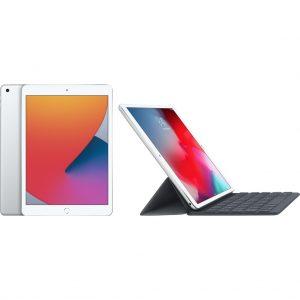 Apple iPad (2020) 128 GB Wifi Zilver + Smart Keyboard