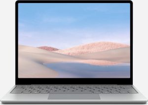 "Microsoft Surface Laptop Go Notebook 31,6 cm (12.4"") 1536 x 1024 Pixels Touchscreen Intel® 10de generatie Core™ i5 8 GB LPDDR4x-SDRAM 256 GB SSD Wi-Fi 6 (802.11ax) Windows 10 Pro Platina"