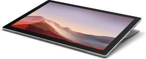 "Microsoft Surface Pro 7 31,2 cm (12.3"") Intel® 10de generatie Core™ i3 4 GB 128 GB Wi-Fi 6 (802.11ax) Platina Windows 10 Home"