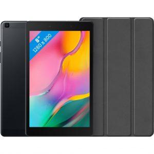 Samsung Galaxy Tab A 8.0 (2019) 32 GB Wifi + 4G Zwart + Just in Case Book Case Zwart