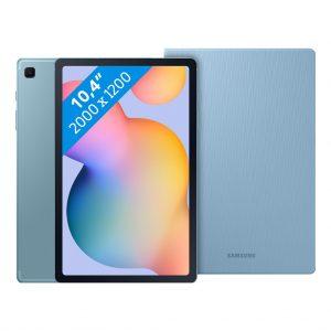 Samsung Galaxy Tab S6 Lite 128 GB Wifi + 4G Blauw + Samsung Book Case Blauw
