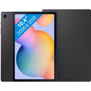 Samsung Galaxy Tab S6 Lite 128 GB Wifi + 4G Grijs + Samsung Book Case Grijs
