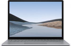 "Microsoft Surface Laptop 3 Notebook 38,1 cm (15"") 2496 x 1664 Pixels Touchscreen Intel® 10de generatie Core™ i5 8 GB LPDDR4x-SDRAM 128 GB SSD Wi-Fi 6 (802.11ax) Windows 10 Pro Platina"