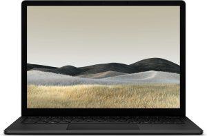 Microsoft Surface Laptop 3 Notebook Zwart 34,3 cm (13.5'') 2256 x 1504 Pixels Touchscreen Intel® 10de generatie Core™ i5 8 GB LPDDR4x-SDRAM 256 GB SSD Wi-Fi 6 (802.11ax) Windows 10 Pro