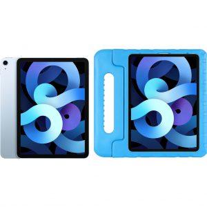 Apple iPad Air (2020) 10.9 inch 256 GB Wifi Hemelsblauw + Just in Case Kinderhoes Blauw