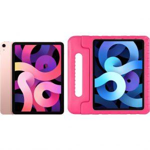 Apple iPad Air (2020) 10.9 inch 256 GB Wifi Roségoud + Just in Case Kinderhoes Roze