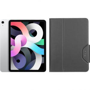 Apple iPad Air (2020) 10.9 inch 256 GB Wifi Zilver + Targus VersaVu Book Case