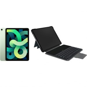 Apple iPad Air (2020) 10.9 inch 64 GB Wifi Groen + Gecko Toetsenbord Hoes QWERTY