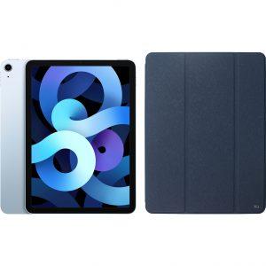 Apple iPad Air (2020) 10.9 inch 64 GB Wifi Hemelsblauw + Xqisit Piave Book Case Blauw