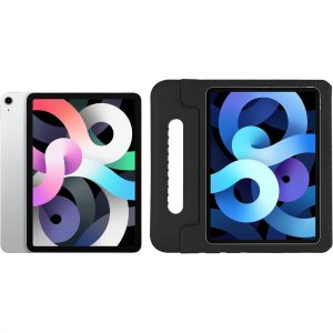 Apple iPad Air (2020) 10.9 inch 64 GB Wifi Zilver + Just in Case Kinderhoes Zwart