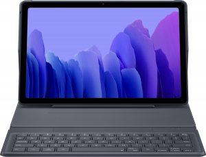 Book Cover Keyboard Samsung Galaxy Tab A7 tablettoetsenbord - 10.4 inch - AZERTY - Grijs