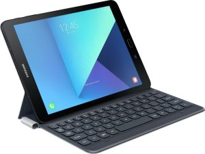 Book Cover Keyboard Samsung Galaxy Tab S3 tablettoetsenbord - 9.7 inch - QWERTY - Zwart/Zilver