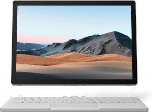 "Microsoft Surface Book 3 Hybride (2-in-1) 34,3 cm (13.5"") 3000 x 2000 Pixels Touchscreen Intel® 10de generatie Core™ i7 32 GB LPDDR4x-SDRAM 512 GB SSD NVIDIA® GeForce® GTX 1650 Max-Q Wi-Fi 6 (802.11ax) Windows 10 Pro Platina"
