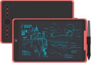 Huion® H320M Tekentablet - 8192 niveaus - Drawing tablet - Tilt control - Grafische tablet - 266PPS + 5080LPI - Ook geschikt voor linkshandig - PW100 - Met Sleeve