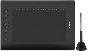 Huion® H610 Pro V2 Tekentablet - 8192 niveaus - Drawing tablet - Tilt control - Grafische tablet - 266PPS + 5080LPI - Rechts- en linkshandig