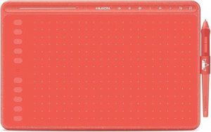 Huion® HS611 Tekentablet - 8192 niveaus - Drawing tablet - Tilt control - Grafische tablet - 266PPS + 5080LPI - Ook geschikt voor linkshandig - PW500 - Coral Red