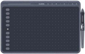 Huion® HS611 Tekentablet - 8192 niveaus - Drawing tablet - Tilt control - Grafische tablet - 266PPS + 5080LPI - Ook geschikt voor linkshandig - PW500 - Space Grey