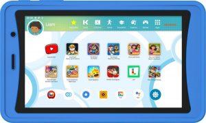 Kurio Tab Ultra 2 (2021) - 16GB - Blauw - veilig kindertablet - ouderlijk toezicht - beschermende bumper